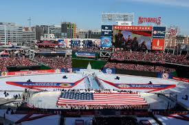 u s department of defense photo essay service members take part in a flag ceremony on the ice in nationals park washington