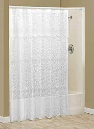 white lace shower curtain. Lace Shower Curtain With Valance By WalterDrake White R