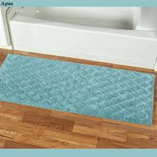 splendor bath rug runner 60 x 24 teal blue green