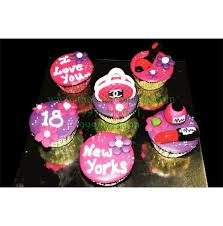 18th Birthday Cupcakes Girls Birthday Cakes Cake Express Noida Cake