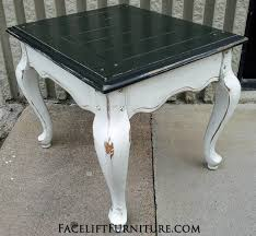 distressed white table. Amazing End Tables Painted Glazed Distressed Facelift Furniture White Remodel Table .