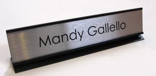 entryway reception area office signs office desk name plates metal desk frame