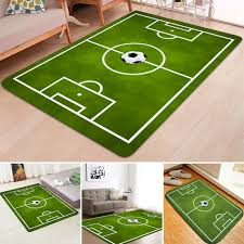 large green football soccer pitch rug kids play floor carpet bedroom rugs soft 12 59