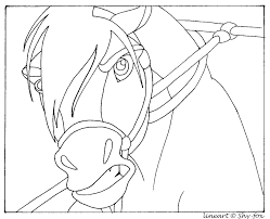 Small Picture Spirit Horse Lineart By Capella336 On DeviantART Coloring Home
