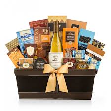 wine baskets napa estates chardonnay luxury gift basket