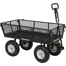 strongway steel garden wagon with liner 1 200 lb capacity 5 cu ft 44in l x 24in w northern tool equipment