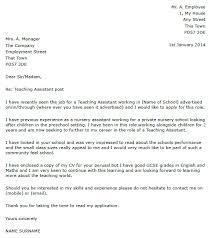 Cover Letter For Teacher Assistant Resume Template Info