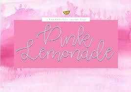 Pink Lemonade Designs Pink Lemonade Script Font