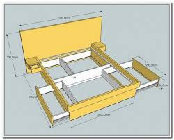 Plans For Platform Bed With Storage Drawers