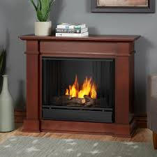 real flame devin petite 36 inch gel fireplace with mantel dark espresso 1220 de gas log guys
