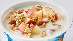 apple cinnamon crunch yogurt bowl