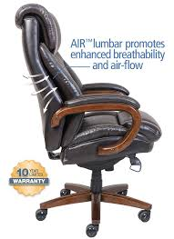 la z boy trafford big tall executive bonded leather office chair vino brown co uk kitchen home