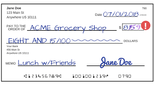 see how to write a check step by step explanation a check that has been altered from 8 15 to 8 159