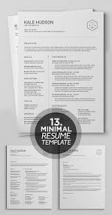 Modern Typographic Resume Set 25 Best Minimalism Resume Templates 2018 Design Graphic Design