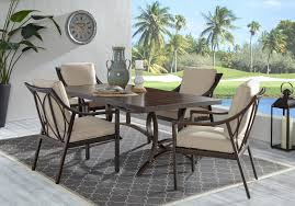 Patio Dining Set With Reclining Chairs
