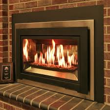 wood stove insert for ventless gas log vent free with electric and raised