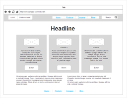 Website Wireframe Template Stunning Wireframe Tool Get Free Wireframe Templates And Symbols SmartDraw