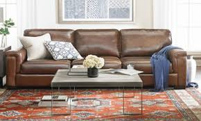 Brown leather living room furniture Old English Bari 98inch Italian Topgrain Leather Contemporary Sofa The Dump Leather Living Room Furniture Outletthe Dump Luxe Furniture Outlet