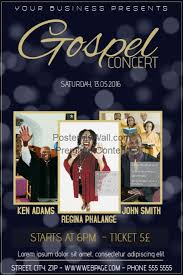 Concert Flyers Templates Gospel Flyer Ohye Mcpgroup Co