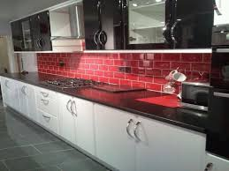 Red And White Kitchen Kitchen Red Black Tiles Red Black And White Art Red White And