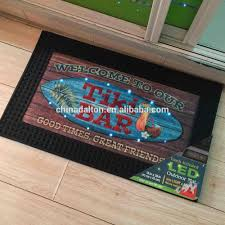 Light Up Floor Mat Hot Item Rubber Outdoor Welcome Entrance Touch Activated Music Sound Sensor Led Light Up Doormats Door Mats Floor Mats