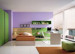 modern bedroom green. Bedroom Kids : Tidy Lavender Modern Kid Feature Green-yellow Horizontal Straight Lines Accent Wall Background And Brown Base Mattress With Green I
