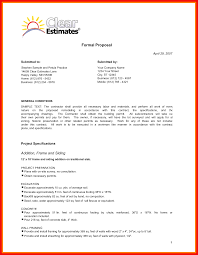 Formal Proposal Example Sample Of Formal Proposal Apa Example 19