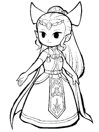 Legend Of Zelda Coloring Pages Book And Here Are