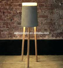 Floor Lamps: Concrete Floor Lamp Concrete And Wood Floor Lamp Concrete  Floor Lamp Base Modern