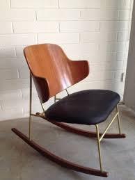 modern rocking chair. penguin\u0027 rocking chair c. 1956 mid-century danish modern