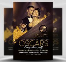 Oscars Fancy Dress Party Flyer Template V2 Flyerheroes
