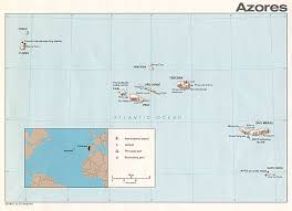 azores islands map  azores • mappery