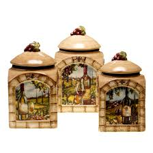 Designer Kitchen Canister Sets Fleur De Lis Living Janet 3 Piece Kitchen Canister Set Reviews
