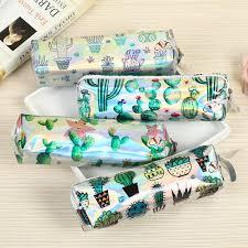Cactus Pencil Case <b>Holographic Laser Pen Bag</b> For Girl Boys ...
