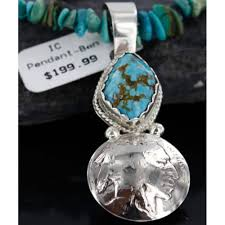 10 vintage style old buffalo coin certified authentic navajo 925 sterling silverone mountain turquoise native american