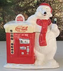 Coca Cola Polar Bear In Bottle Vending Machine Interesting RARE MANUFACTURER GOOF Polar Bear Coca Cola Cookie Jar 4848