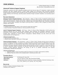 Resume format for Desktop Support Engineer New Technical Engineer Resume] Engineer  Resume Technical Support