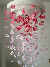 Paper Chandelier Paper Lace Chandelier Monarch Butterfly Mobile Pink And White