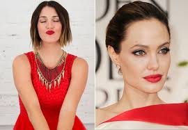 makeup that goes with red dress