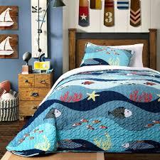 beach themed furniture tropical bedding coastal king size underwater ocean bedding twin