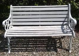 garden bench seat cast iron ends wooden slats chair wood furniture
