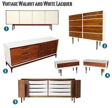 white lacquered furniture. vintage walnut and white lacquer furniture lacquered