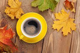 Welcome to free wallpaper and background picture community. Fall Background With Leaves And Cup Of Coffee Gallery Yopriceville High Quality Images And Transparent Png Free Clipart