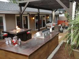 exterior appealing fireplace table beautifying mesmerizing backyard bars designs by applying l shaped island placed