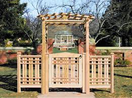 Small Picture Simple Garden Arbor With Gate This Pin And More On By Intended Design