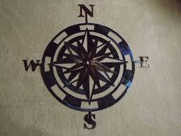 custom made 36 inch metal compass rose wall art