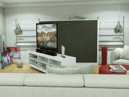 ... Ashton Murphy Bed with TV Stand | Anthracite ...