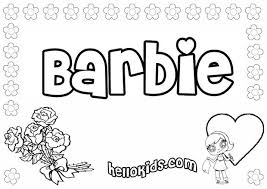 Small Picture Barbie Coloring Sheets Games Coloring Pages