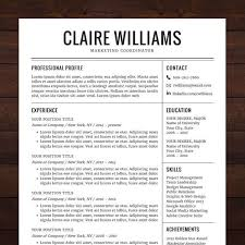 Microsoft Office Free Resume Templates Extraordinary Resume Template CV Template Instant Download Professional Creative