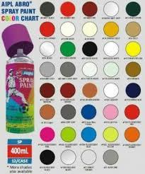 Spray Paint Color Chart Abro Spray Paint Spray Paint Colors
